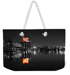 Sugar Glow - Classic Iconic Domino Sugars Neon Sign, Inner Harbor Baltimore, Maryland - Color Splash Weekender Tote Bag
