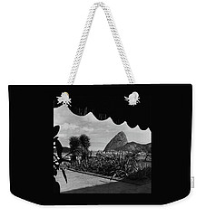 Sugarloaf Mountain Seen From The Patio At Carlos Weekender Tote Bag