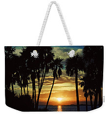 Weekender Tote Bag featuring the photograph Sultry Sunset by Janie Johnson