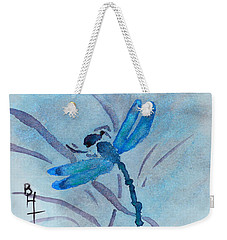 Sumi Dragonfly Weekender Tote Bag by Beverley Harper Tinsley