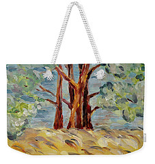 Weekender Tote Bag featuring the painting Summer Afternoon by Maria Langgle