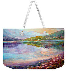 Weekender Tote Bag featuring the painting Summer Afternoon by Sher Nasser
