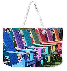 Summer Beach Chairs Weekender Tote Bag by Jeannie Rhode
