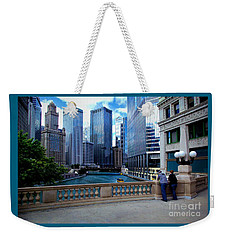 Summer Breeze On The Chicago River - Color Weekender Tote Bag