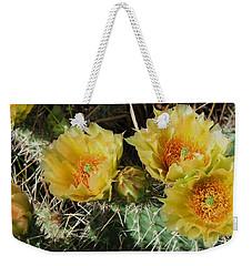 Summer Cactus Blooms Weekender Tote Bag
