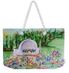 Summer Concert In The Park Weekender Tote Bag