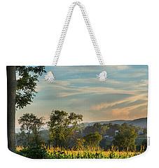 Summer Corn Square Weekender Tote Bag