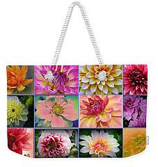 Summer Time Dahlias Weekender Tote Bag by Dora Sofia Caputo Photographic Art and Design
