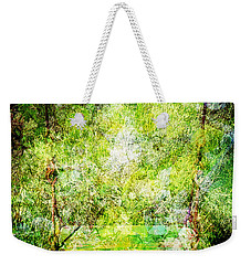 Weekender Tote Bag featuring the mixed media Summer Days Of Yore #1 by Sandy MacGowan