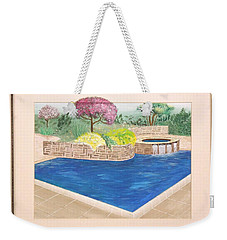 Weekender Tote Bag featuring the painting Summer Days by Ron Davidson