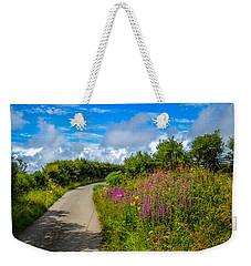 Summer Flowers On Irish Country Road Weekender Tote Bag
