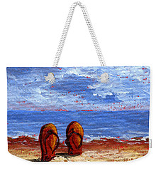 Weekender Tote Bag featuring the painting Summer Fun by Darice Machel McGuire