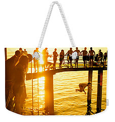 Weekender Tote Bag featuring the photograph Summer Fun by Ray Warren