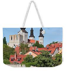 Summer Green Medieval Town Weekender Tote Bag
