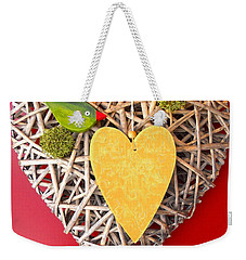 Weekender Tote Bag featuring the photograph Summer Heart by Juergen Weiss