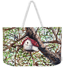 Weekender Tote Bag featuring the painting Summer Home by Shana Rowe Jackson