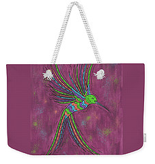Weekender Tote Bag featuring the painting Summer Hummer by Susie WEBER