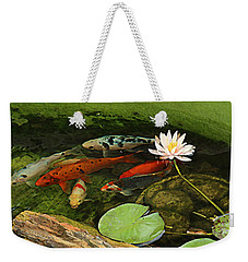 Summer Koi And Lilly Weekender Tote Bag