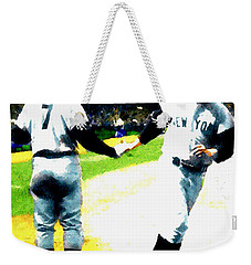 Summer Of The Gods  Iv 1961 Mickey Mantle Weekender Tote Bag by Iconic Images Art Gallery David Pucciarelli