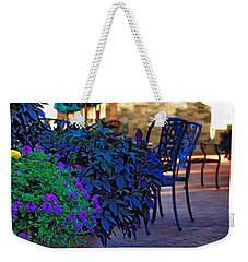 Weekender Tote Bag featuring the photograph Summer Patio by Rowana Ray