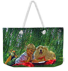 Summer Reading Weekender Tote Bag by Jane Schnetlage
