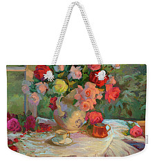 Summer Roses Weekender Tote Bag by Diane McClary