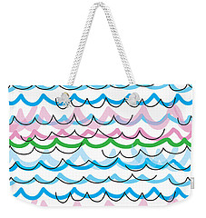 Weekender Tote Bag featuring the digital art Summer Seaside  by Jocelyn Friis