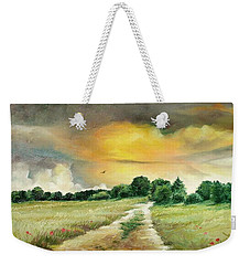 Weekender Tote Bag featuring the painting Summer by Sorin Apostolescu