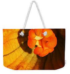 Summer Squash Blossom Weekender Tote Bag by Jennifer Muller