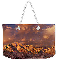 Weekender Tote Bag featuring the photograph Summer Storm Clouds Over The Eastern Sierras California by Dave Welling