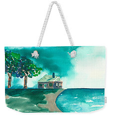 Weekender Tote Bag featuring the painting Summer Storm by Frank Bright