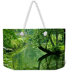 Summer Stream Weekender Tote Bag
