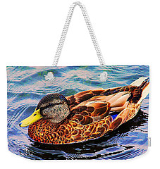 Weekender Tote Bag featuring the photograph Summer Swim by Denyse Duhaime