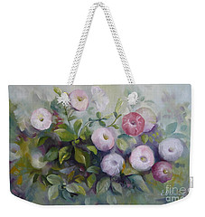 Weekender Tote Bag featuring the painting Summer Symphony by Elena Oleniuc