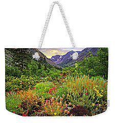 Summer Wildflowers In Lundy Canyon Weekender Tote Bag