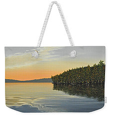 Weekender Tote Bag featuring the painting Summers End by Kenneth M  Kirsch