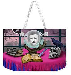 Summoning Edgar Allan Poe Weekender Tote Bag by Glenn Holbrook