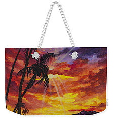 Weekender Tote Bag featuring the painting Sun Burst by Darice Machel McGuire