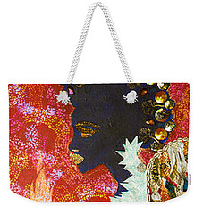 Weekender Tote Bag featuring the tapestry - textile Sun Guardian - The Keeper Of The Universe by Apanaki Temitayo M