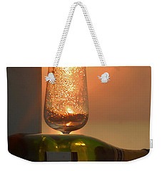 Weekender Tote Bag featuring the photograph Sun In Glass by Leticia Latocki