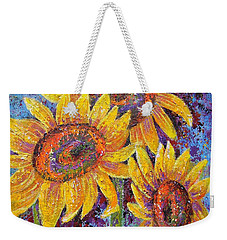 Weekender Tote Bag featuring the painting Sun-kissed Beauties by Margaret Bobb