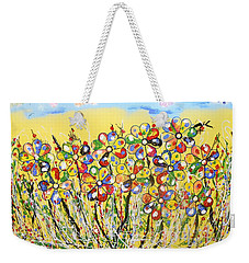 Sun-kissed Flower Garden Weekender Tote Bag