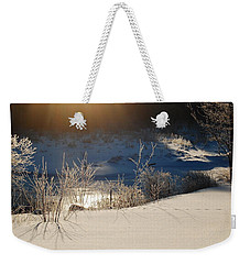 Sun On Snow Weekender Tote Bag by Mim White