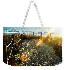 Sun Ray Beach Path Weekender Tote Bag