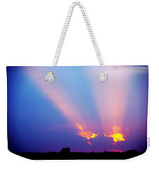 Sun Rays At Sunset Weekender Tote Bag