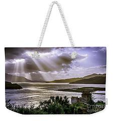 Sun Rays Over Eilean Donan Castle Weekender Tote Bag