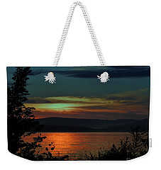 Sun Sets On Winnisquam Weekender Tote Bag by Mim White