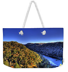 Sun Setting On Fall Hills Weekender Tote Bag by Jonny D