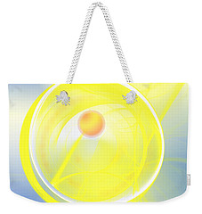 Weekender Tote Bag featuring the digital art Sun Spot by Victoria Harrington