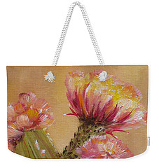 Weekender Tote Bag featuring the painting Sun Worshipper by Judith Rhue